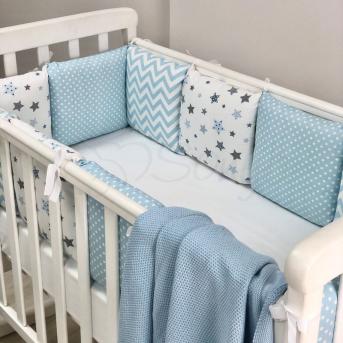 Сменные чехлы для бортиков Baby Design Stars Маленькая Соня голубой