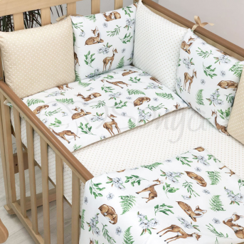 Сменные чехлы для бортиков Baby Design Олени Маленькая Соня