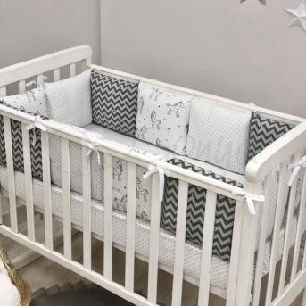 Сменные чехлы для бортиков Baby Design Единороги Маленькая Соня