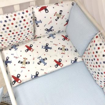 Сменные чехлы для бортиков Baby Design Аэроплан Маленькая Соня