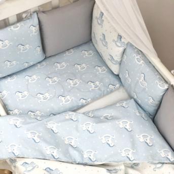 Сменные чехлы для бортиков Baby Design Лошадки Маленькая Соня