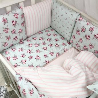 Сменные чехлы для бортиков Baby Design Прованс Маленькая Соня мята