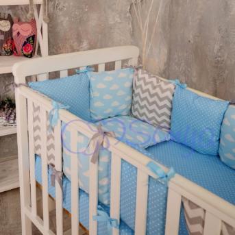 Сменные чехлы для бортиков Baby Design Облака Маленькая Соня