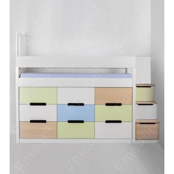 Кровать-чердак со шкафом Индиана Fmebel 80x190