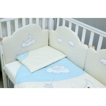 Защита в кроватку Sleepyhead Верес голубой