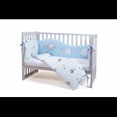 Защита в кроватку Elephant family Верес голубой