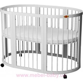 Распродажа Кроватка SMARTBED OVAL с маятниковым механизмом 9-в-1 IngVart 60x71