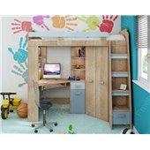 Кровать-чердак со столом Остин Fmebel 80х200