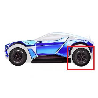 Комплект колес 2 шт. для кровати-машины (103)