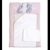 Пеленальный матрас Summer Bunny Veres 50x70 розовый