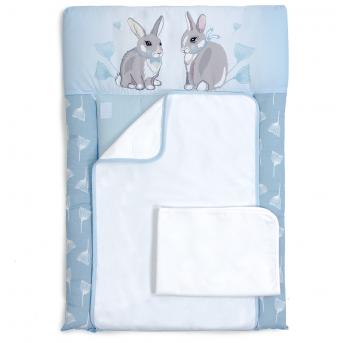 Пеленальный матрас Summer Bunny Veres 50x70 голубой