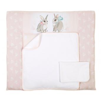 Пеленальный матрас Summer Bunny Veres 72x80 розовый