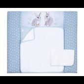Пеленальный матрас Summer Bunny Veres 72x80 голубой