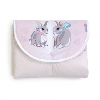 Дорожный пеленальный матрас Summer Bunny Veres 50x70 розовый