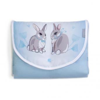 Дорожный пеленальный матрас Summer Bunny Veres 50x70 голубой