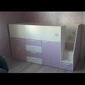 Кровать-чердак со шкафом Висконсин-2 Fmebel 90x200