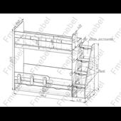 Двухъярусная кровать Бергамо Fmebel