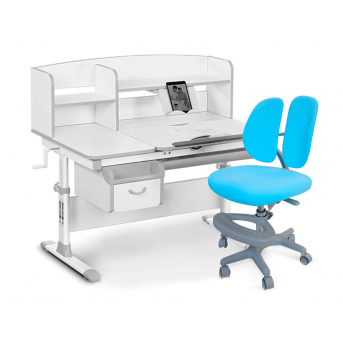 Комплект Evo-50 G Grey (арт. Evo-50 G + кресло Y-408 KBL) Evo-kids серый