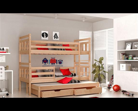 Двухъярусная кровать с дополнительным спальным местом Джосси Мистер Мебл 80x190