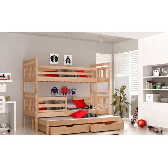 Двухъярусная кровать с дополнительным спальным местом Джосси Мистер Мебл 80x200