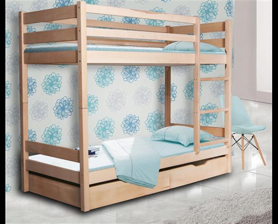 Двухъярусная кровать с дополнительным спальным местом Донни Мистер Мебл 80x190