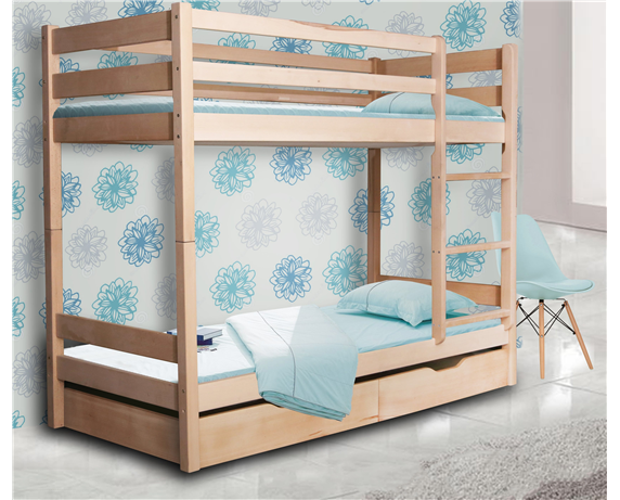 Двухъярусная кровать с дополнительным спальным местом Донни Мистер Мебл 90x200