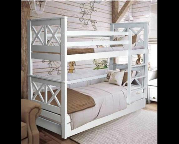 Двухъярусная кровать с дополнительным спальным местом Лея Мистер Мебл 80x200