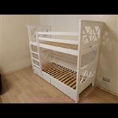 Двухъярусная кровать Лея Мистер Мебл 80х200 Дерево