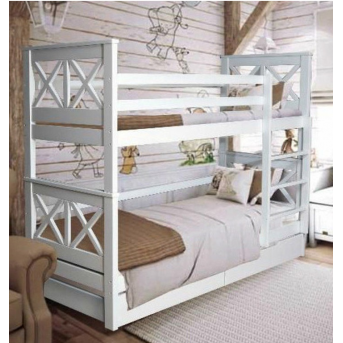 Двухъярусная кровать с дополнительным спальным местом Лея Мистер Мебл 90x200
