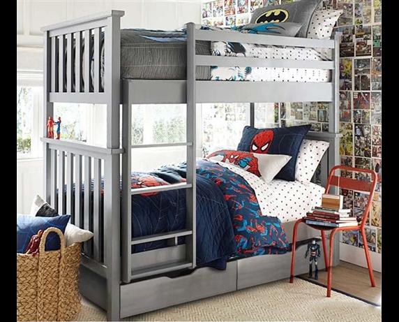 Двухъярусная кровать с дополнительным спальным местом Хетти Мистер Мебл 80x200