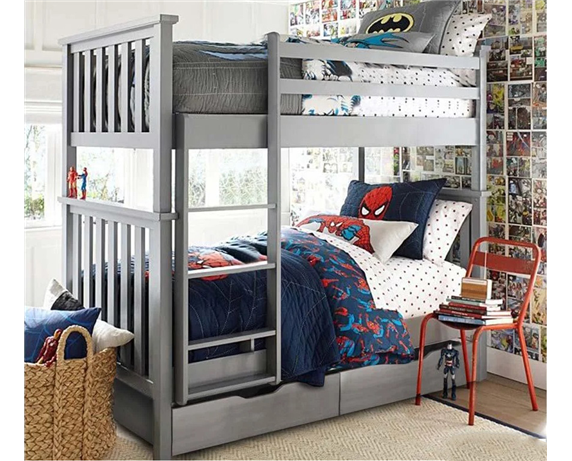 Двухъярусная кровать с дополнительным спальным местом Хетти Мистер Мебл 90x190