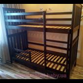 Двухъярусная кровать Хетти Мистер Мебл 90х190 Дерево
