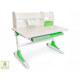 Стол Ontario TG/Z с полкой (Evo-600 TG/Z) Evo-kids береза/зеленый