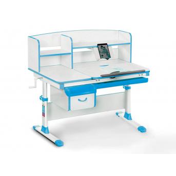 Детский стол с надстройкой и ящиком Evo-50 BL Evo-kids голубой