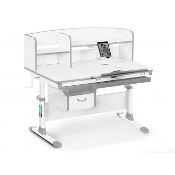 Детский стол с надстройкой и ящиком Evo-50 G Evo-kids серый