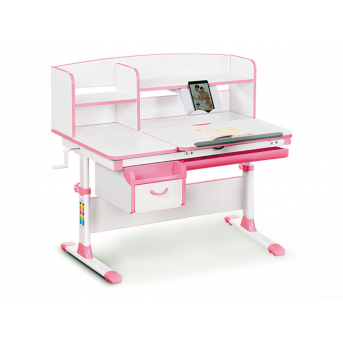 Детский стол с надстройкой и ящиком Evo-50 PN Evo-kids розовый