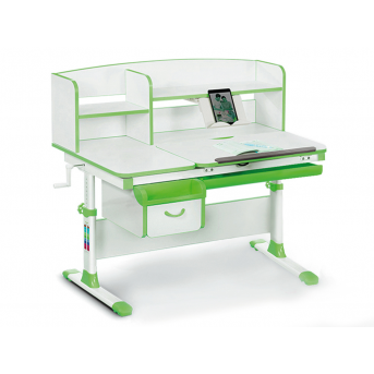Детский стол с надстройкой и ящиком Evo-50 Z Evo-kids зеленый