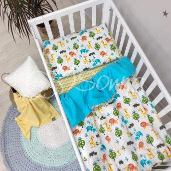 Сменный комплект постельного белья Baby Mix Сафари Маленькая Соня