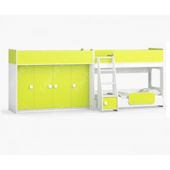 Кровать для троих детей Бристоль Fmebel 80x190