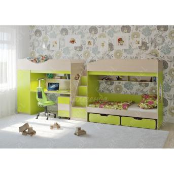 Кровать для троих детей Бредфорд Fmebel 80x190
