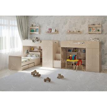 Кровать для троих детей Блекберн Fmebel 80x190