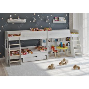 Кровать для троих детей Лестер Fmebel 80x190