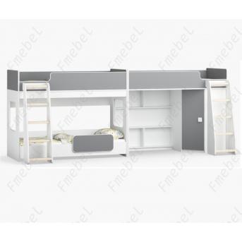 Кровать для троих детей Джексонвилл Fmebel 80x190
