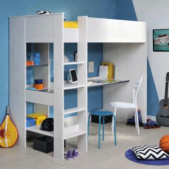 Кровать-чердак со столом Дижон Fmebel 90x200