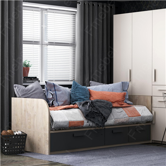Кровать-диванчик со шкафом Бордо Fmebel 90x190