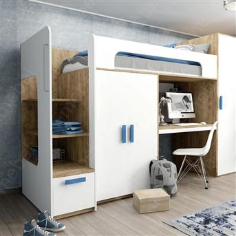 Кровать-чердак со столом Хоккайдо Fmebel 90x200