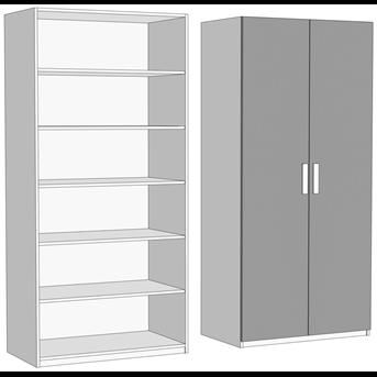 Шкаф двухдверный с полками (схема) Fmebel
