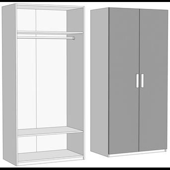 Шкаф двухдверный со штангой (схема) Fmebel