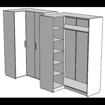Шкаф с полками угловой (схема) Fmebel