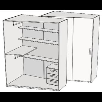 Шкаф скошенный (схема) Fmebel